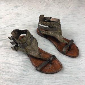 Sam Edelman Grenna Green Leather Thong Sandals 6.5